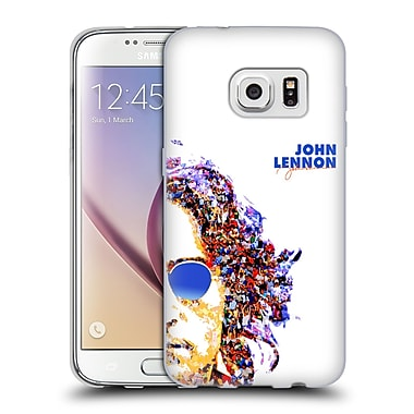 OFFICIAL JOHN LENNON KEY ART Collage Soft Gel Case for Samsung Galaxy S7