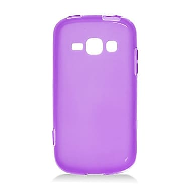 Insten Transparent Frosted TPU Rubber Candy Skin Case Back Cover For Samsung Galaxy Prevail 2 / Ring - Purple
