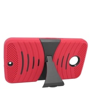 Insten Wave Symbiosis Soft Dual Layer Rubber Hard Stand Case For Motorola Google Nexus 6 - Red/Black