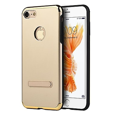 Insten Skyfall Aluminum Hybrid Hard PC/TPU Case with Magnetic Kickstand For Apple iPhone 7 - Gold/Black