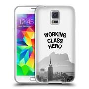 OFFICIAL JOHN LENNON KEY ART Black And White Soft Gel Case for Samsung Galaxy S5 / S5 Neo (C_AB_1ABE6)