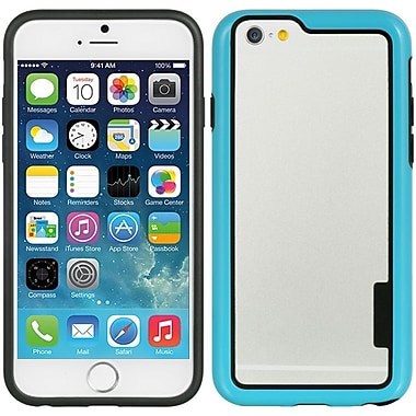 Insten Hard Dual Layer Crystal TPU Case for Apple iPhone 6 / 6s - Clear/Blue