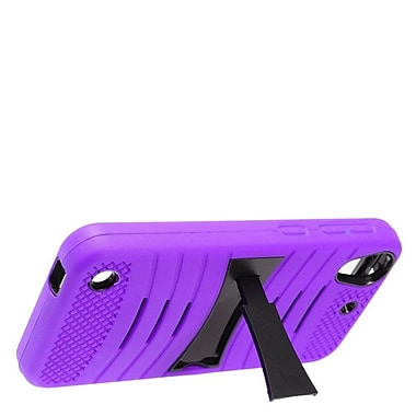 Insten Wave Symbiosis Rubber Hard Cover Case w/stand For HTC Desire 530 - Purple/Black