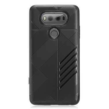 Insten Dual Layer Hybrid PC/TPU Rubber Case Cover for LG V20 - Black