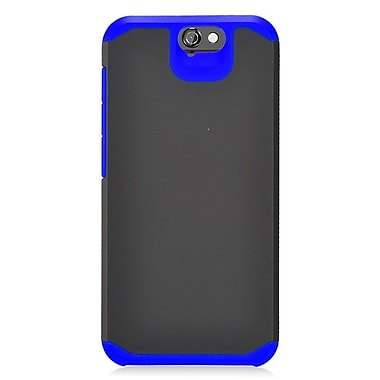 Insten Hard Hybrid Rubberized Silicone Case For HTC One A9 - Black/Blue