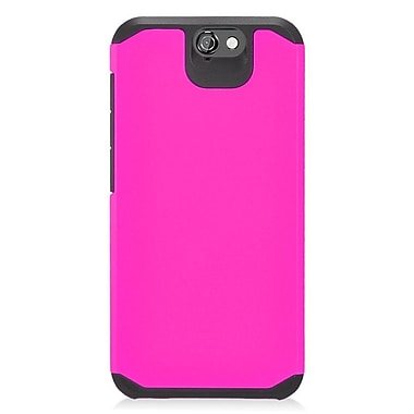 Insten Hard Dual Layer Rubber Silicone Case For HTC One A9 - Hot Pink/Black