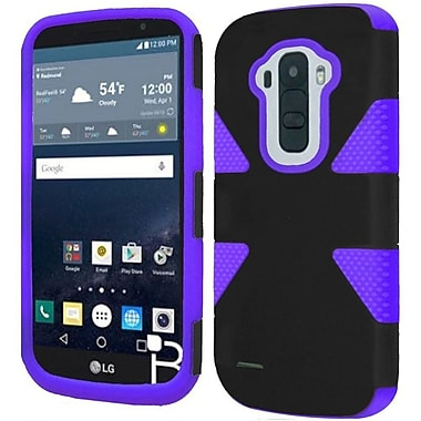Insten Dynamic Hard Dual Layer Rubber Silicone Case For LG G Stylo - Black/Purple