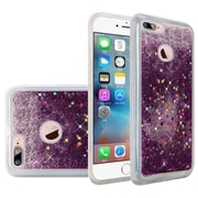 Insten Liquid Quicksand Glitter Fused Flexible Hybrid TPU Cover Case For Apple iPhone 7 - Dark Purple