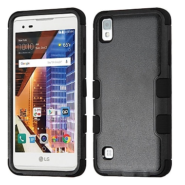 Insten Tuff Hard Hybrid Rubber Coated Silicone Case For LG Tribute HD / X STYLE - Black