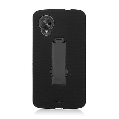 Insten Symbiosis Rubber Hard Cover Case w/stand For LG Google Nexus 5 D820 - Black