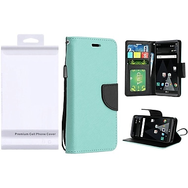 Insten PU Leather Flip Wallet Credit Card Stand Cover Case For LG Aristo / LV3 - Teal