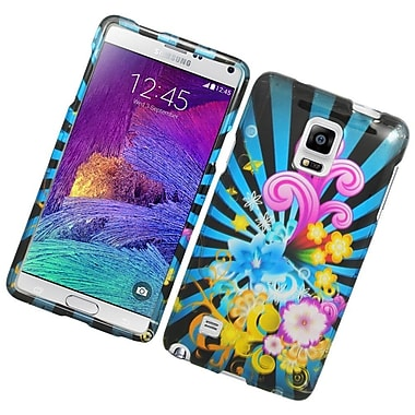 Insten Fireworks Hard Rubber Coated Cover Case For Samsung Galaxy Note 4 - Colorful
