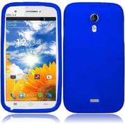 Insten Blue New Colorful Soft Silicone Rubber Premium Case Cover Skin For BLU Studio 5.0 D530