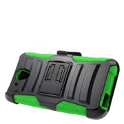 Insten Stand Dual Layer Hybrid Case with Holster For HTC Desire 520 - Black/Green