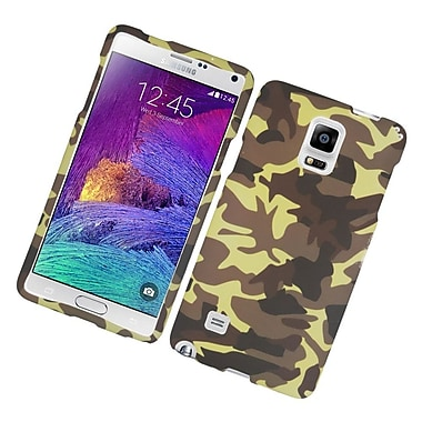 Insten Camouflage Hard Rubber Coated Case For Samsung Galaxy Note 4 - Brown