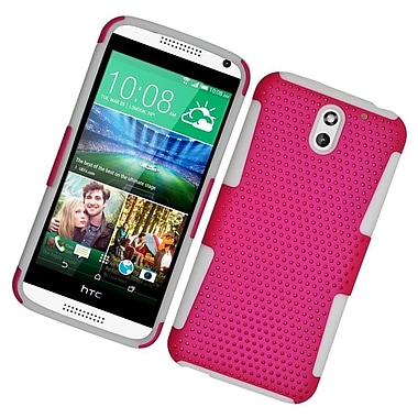 Insten Astronoot Hard Hybrid Silicone Cover Case For HTC Desire 610/612 - Hot Pink/White