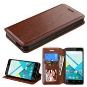 Insten Flip Leather Fabric Cover Case w/stand/card holder/Photo Display For BLU Studio Energy - Brown