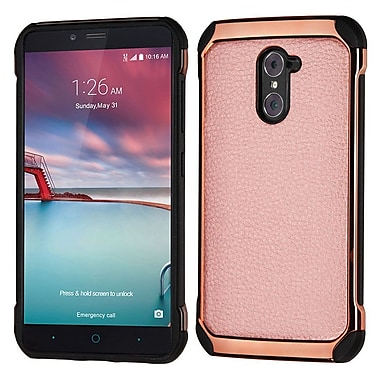 Insten Leather Hybrid Fabric Case For ZTE Grand X Max 2 / Imperial Max / Kirk / Max Duo 4G - Rose Gold/Black