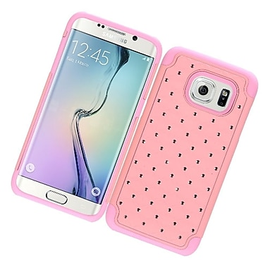 Insten Hard Rubber Cover Case w/Diamond For Samsung Galaxy S7 Edge - Pink