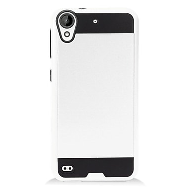 Insten Hybrid CS3 Brushed Metal Hard Dual Layer Shockproof Case Cover For HTC Desire 530 - White/Black