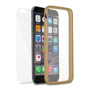 Insten Book Rubber Cover Case For Apple iPhone 6 / 6s - Clear/Gold