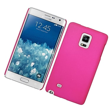 Insten Hard Rubberized Case For Samsung Galaxy Note Edge - Hot Pink