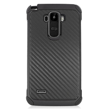 Insten Carbon Fiber Hard Dual Layer Silicone Cover Case For LG G Stylo/G Vista 2 - Black