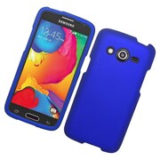 Insten Hard Rubberized Cover Case For Samsung Galaxy Avant - Blue