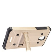 Insten Dual Layer WC8 Hybrid Hard Shockproof Stand Case For Alcatel One Touch Allura / Fierce / Pop 4+ - Gold/Black