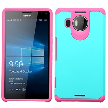 Insten Hard Hybrid Silicone Cover Case For Microsoft Lumia 950 XL - Teal/Pink