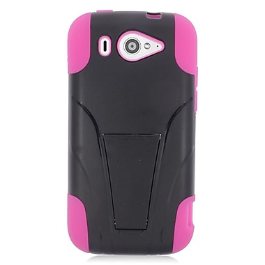 Insten Hard Hybrid Plastic Silicone Case with stand For ZTE Imperial II - Hot Pink