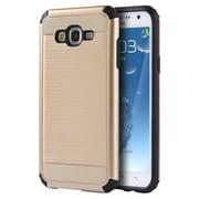 Insten Silkee Armor Anti Shock PC/TPU Dual Layer Hybrid Case For Samsung Galaxy J7 (2015) - Gold