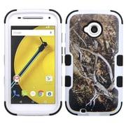 Insten Tuff Vines Dual Layer Hybrid Cover Case For Motorola Moto E (2nd Gen 2015) - Yellow/Black