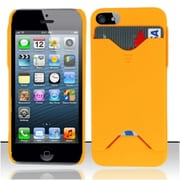 Insten Orange ID Cover Rubberized Hard Case Cover w/ ID Slot For Apple iPhone SE 5