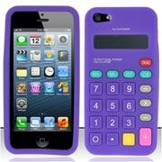 Insten Purple Calculator Silicone Soft Skin Case Cover For Apple iPhone SE 5