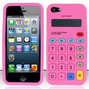 Insten Hot Pink Calculator Silicone Soft Skin Case Cover For Apple iPhone SE 5