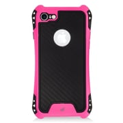 Insten Slim Dual Layer Hybrid PC/TPU Rubber Case Cover for Apple iPhone 7 - Black/Hot Pink