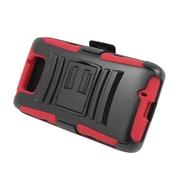 Insten Advanced Armor Hybrid Stand Holster Case Cover for Motorola Droid Maxx XT1080M (Verizon) - Black/White
