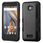 Insten Tuff Hard Hybrid Rubberized Silicone Cover Case For Coolpad Catalyst - Black
