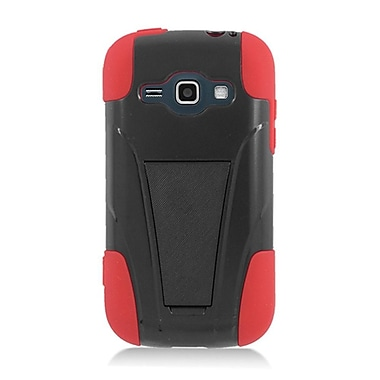 Insten Hard Hybrid Plastic Silicone Case with stand for Samsung Galaxy Prevail 2/Ring - Black/Red