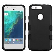 Insten Tuff Hard Dual Layer Rubber Silicone Cover Case For Google Pixel XL - Black