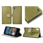 Insten Flip Leather Glitter Cover Case w/stand/Diamond For HTC Desire 626/626s - Gold