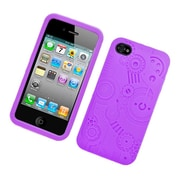 Insten Machine Silicone 3D Rubber Cover Case For Apple iPhone 4/4S - Purple