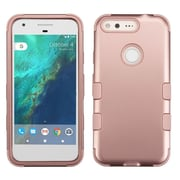 Insten Tuff Hard Dual Layer Rubber Silicone Case For Google Pixel - Rose Gold