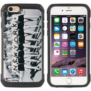 Insten Cityscape Series Black TPU + PC Hybrid Protective Case Uptown Girl Nyc For Apple iPhone 6s Plus / 6 Plus