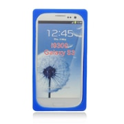 Insten Cassette Tape Soft Rubber Case For Samsung Galaxy S3 - Blue