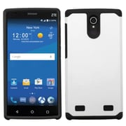 Insten Hard Hybrid Rubber Coated Silicone Cover Case For ZTE ZMAX 2 - White/Black