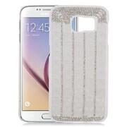 Insten Checker Hard Rhinestone Cover Case For Samsung Galaxy S6 - Silver