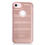 Insten Hybrid CS4 Brushed Metal Hard Dual Layer Shockproof Case Cover For Apple iPhone 7 - Rose Gold/Pink