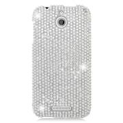 Insten Hard Diamante Cover Case For HTC Desire 510 - Silver